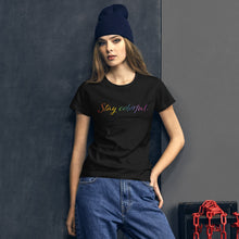 Load image into Gallery viewer, Rainbow Stay Colorful Tee