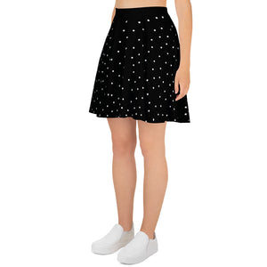 Black WIth White Dots Skirt