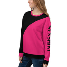 Load image into Gallery viewer, Black and Pink Asymmetrical Sweatshirt