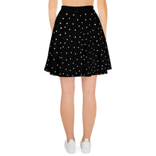 Load image into Gallery viewer, Black WIth White Dots Skirt