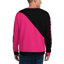Load image into Gallery viewer, Black and Pink Asymmetrical Mens Sweatshirt