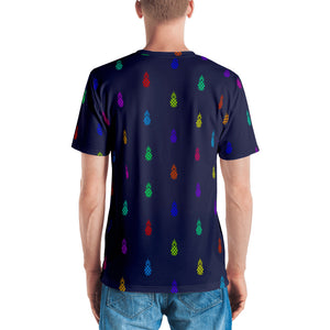 Navy T-Shirt With Neon Pineapples