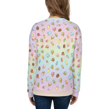 Load image into Gallery viewer, Pastel Rainbow Ice Cream and Popsicles Womens Sweatshirt
