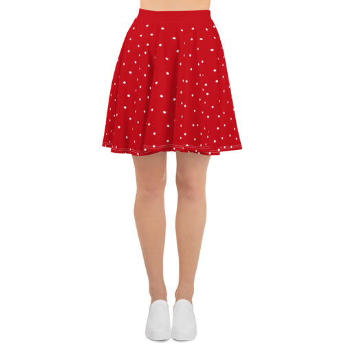 Red With White Dots Skirt