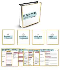 Police Wife Resource Binder