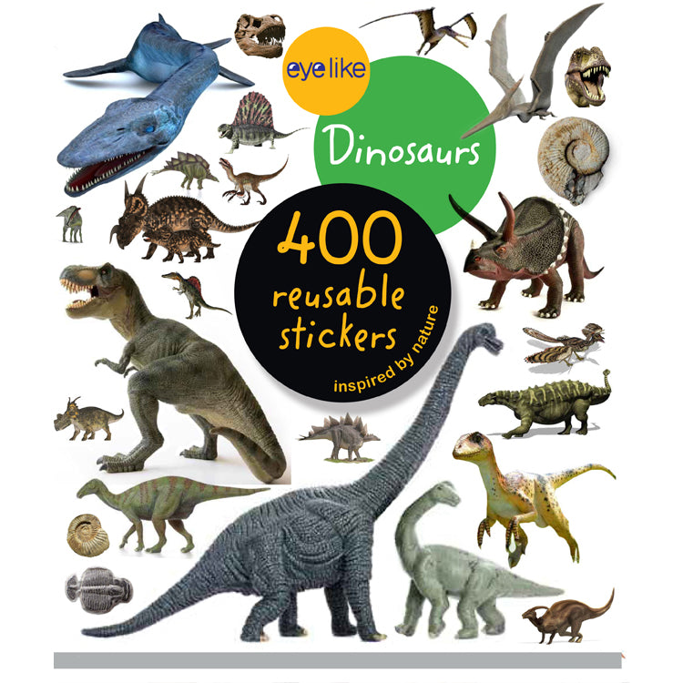 Dinosaur Sticker Book - 400 Reusable Stickers