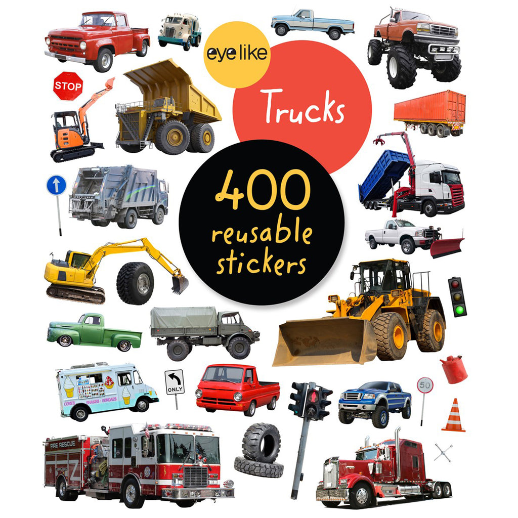 Truck Sticker Book - 400 Reusable Stickers