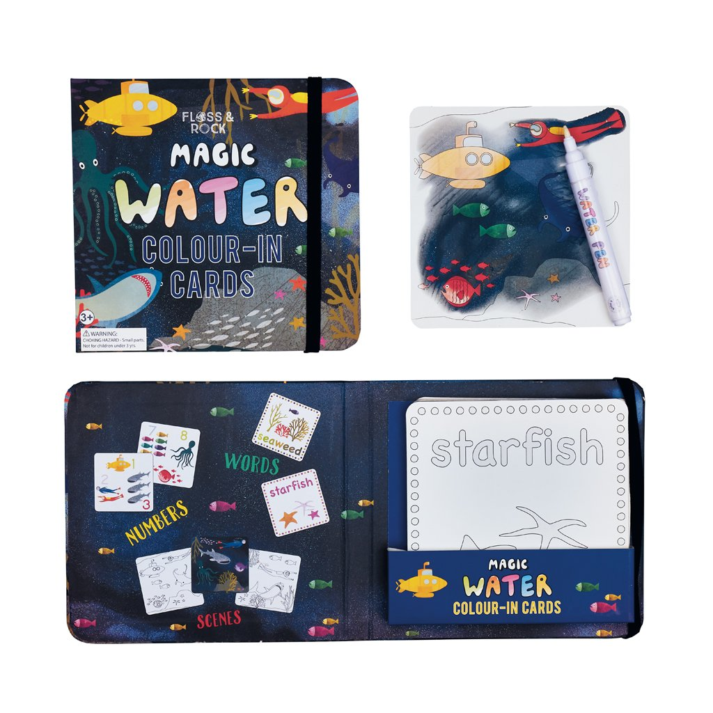 Magic Water Colouring-In Cards
