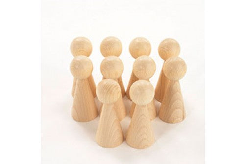 Wooden Conical Figures