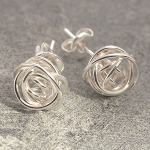 Nest Silver Stud Earrings