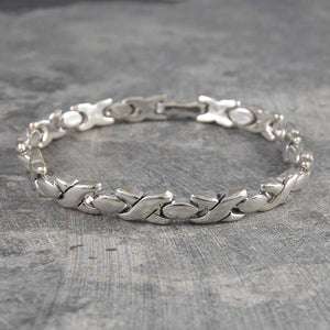 Hugs and Kisses Silver Chunky Bracelet