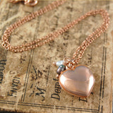 Rose Gold Heart Locket with Pearls