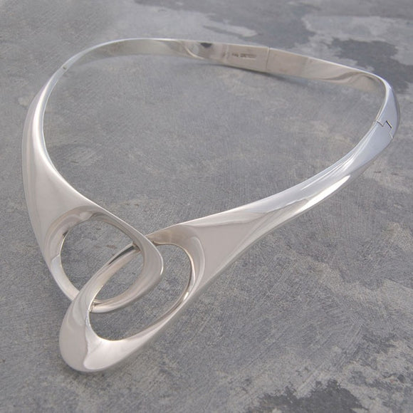 Scissors Silver Choker Necklace