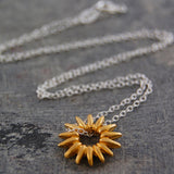 Sunray Silver and Gold Necklace