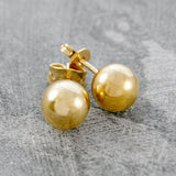 Large Gold Ball Stud Earrings