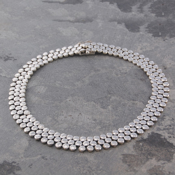 Scales Chunky Silver Necklace