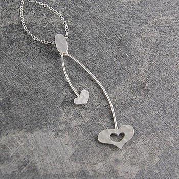 Corazon Silver Heart Pendant Necklace