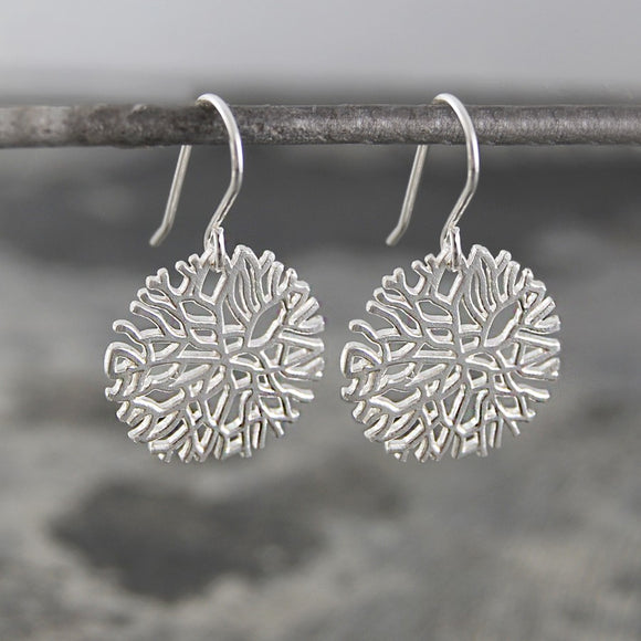 Frost Silver Drop Earrings