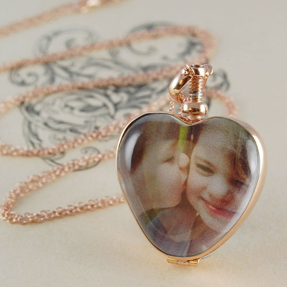 Vintage Rose Gold Heart Locket