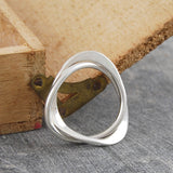 Contemporary Silver Eternity Ring