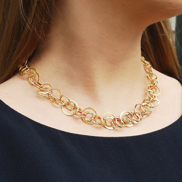 Planet Gold Statement Necklace