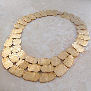 Roman Chunky Gold Statement Necklace