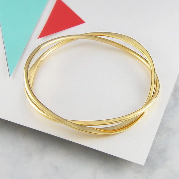 Interwoven Gold Bangle