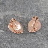 Petal Rose Gold Clip On Earrings
