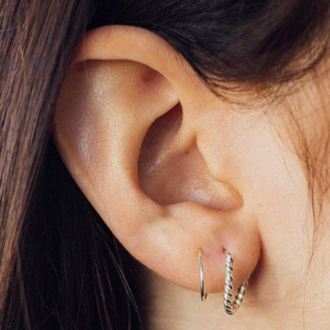 Double Hoop Rope Spiral Earrings