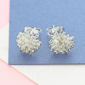Dandelion Silver Stud Earrings