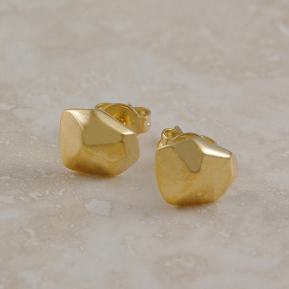 Nugget Gold Stud Earrings