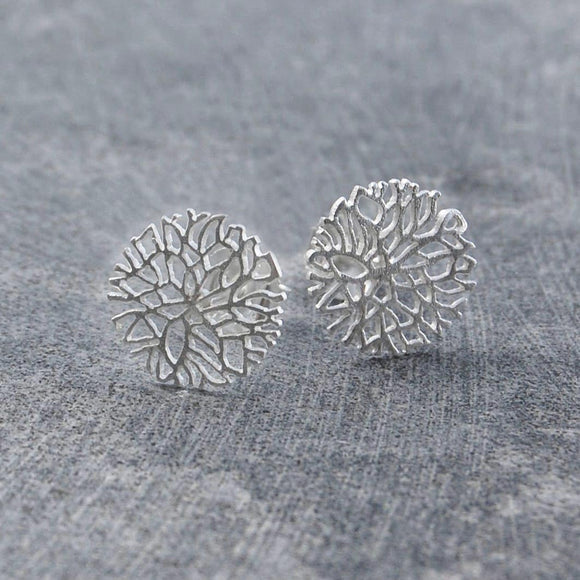 Frost Contemporary Silver Stud Earrings