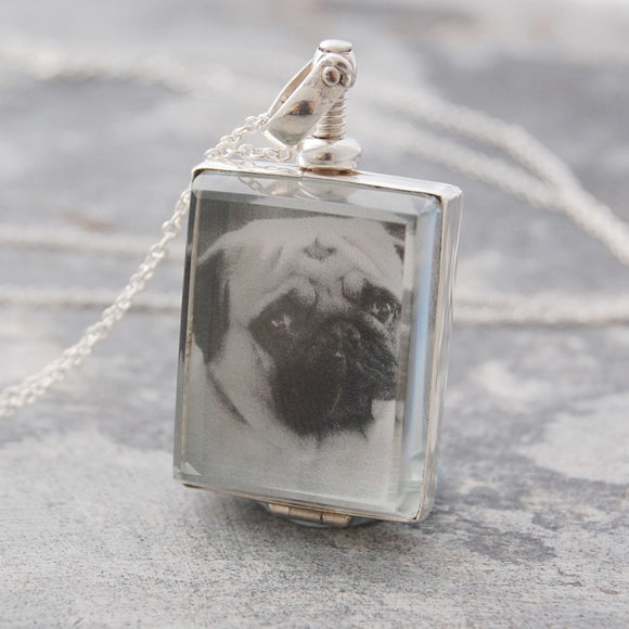 Square Silver Locket