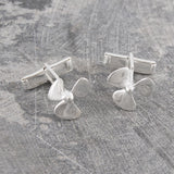 Silver Propeller Nautical Cufflinks