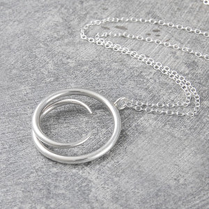 Tapered Round Silver Pendant