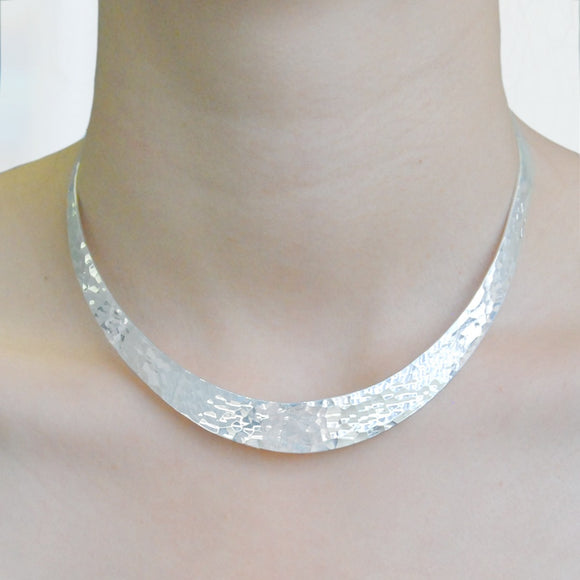 Textured Classic Silver Choker