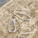 Paperclip Small Silver Drop Earrings