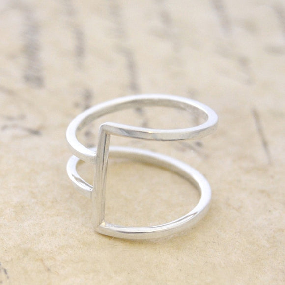 Sterling Silver Geometric Ring