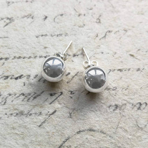 Classic Ball Stud Sterling Silver Earrings