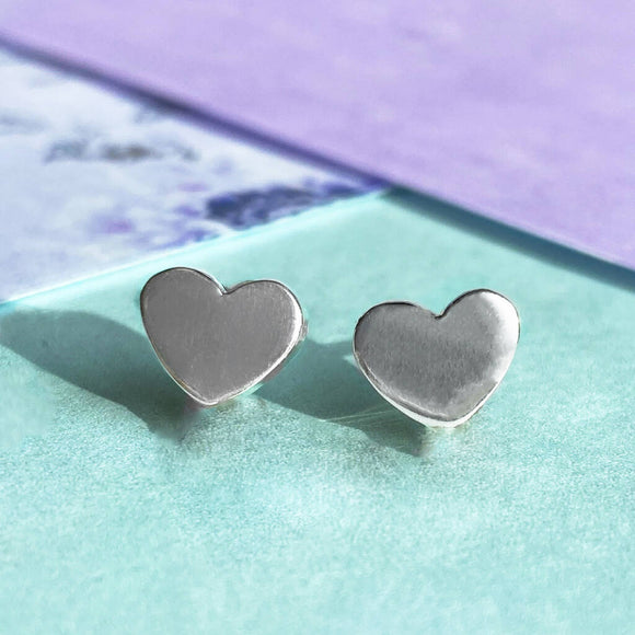 Heart Sterling Silver Stud Earrings