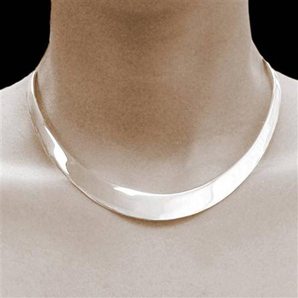 Sterling Silver Classic Solid Choker