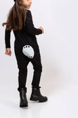 Black Overall - with mouth print