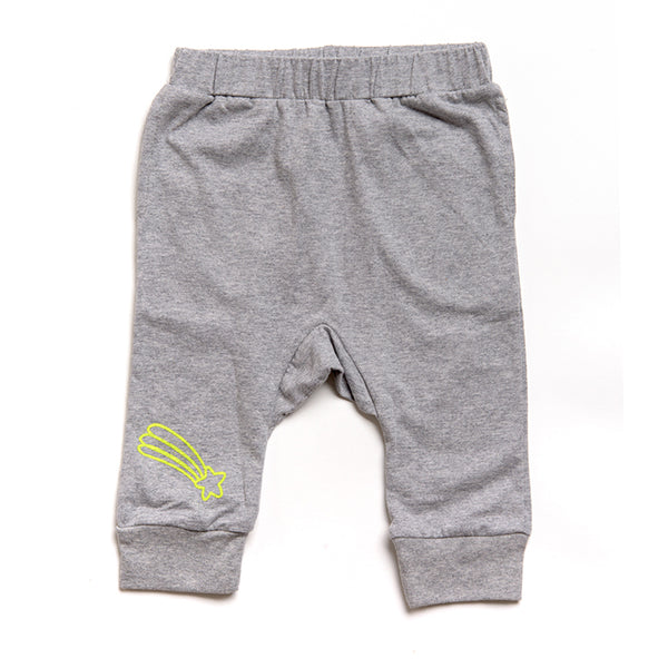 3/4 Gray Pants - Star