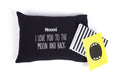 Pillow with pillowcase - black