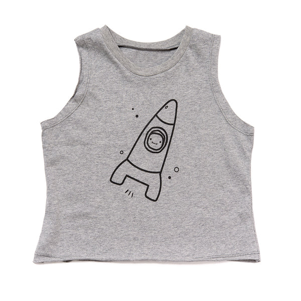 Gray Space Tanktop