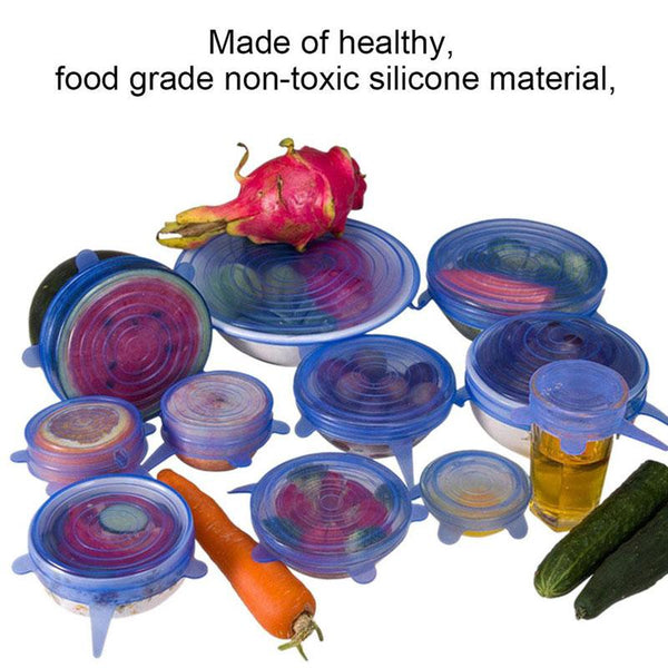 Food-Grade Silicon Covers - Keeps Food Fresh!