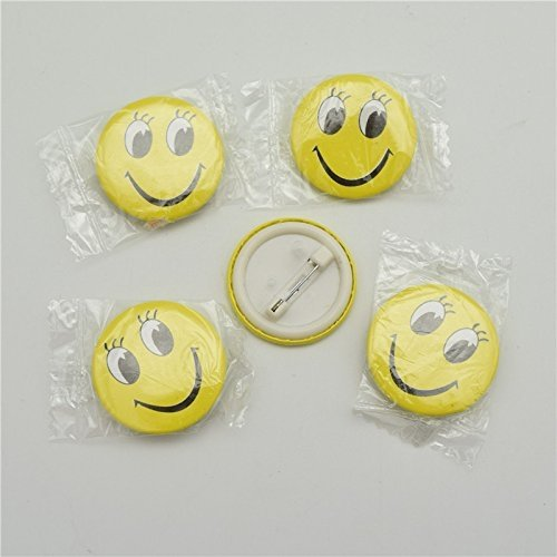 Smiley Face Emoji Expressions Button Pins Badge Brooch
