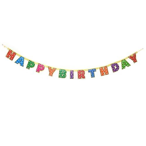 Happy Birthday Polka Dot Banner