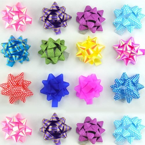 Self Adhesive Flower Ribbon For Gift Wrap & Decoration Multicolor (Small) 1 Ps