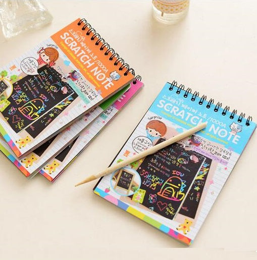 Magic Scratch Note Diary - 10 Pages